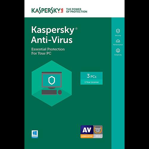 Kaspersky Anti-Virus (1 Year / 3 PC) [Download]