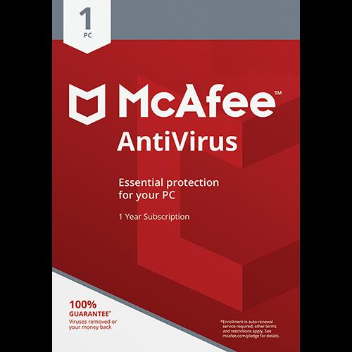 McAfee Antivirus Plus (1 Year, 1 PC) [Download]