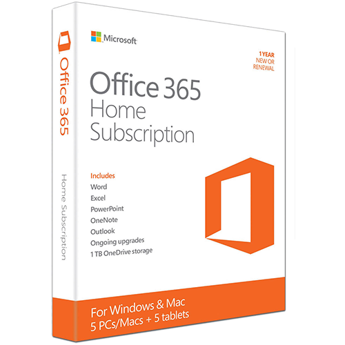 microsoft office 365 home 1 year 5 pc download downloadable product