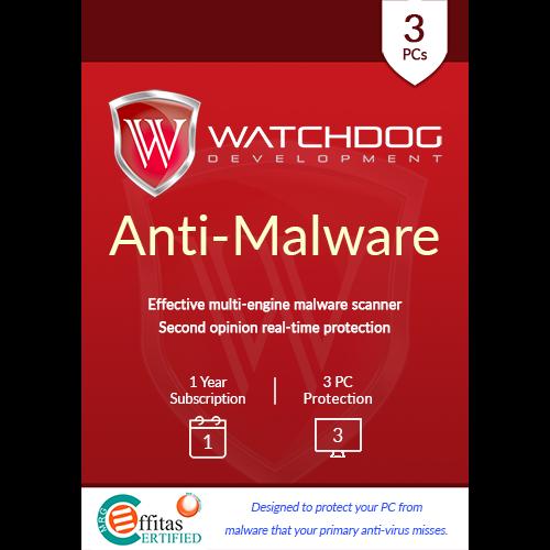 Watchdog Anti-Malware (1 Year / 3 PC) [Download]