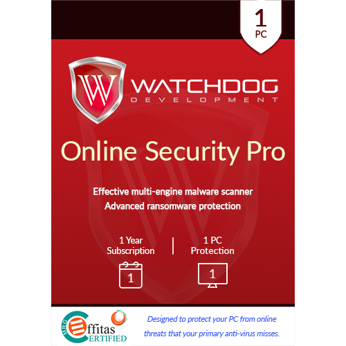 Watchdog Online Security Pro (1 Year, 1 PC) [Download]